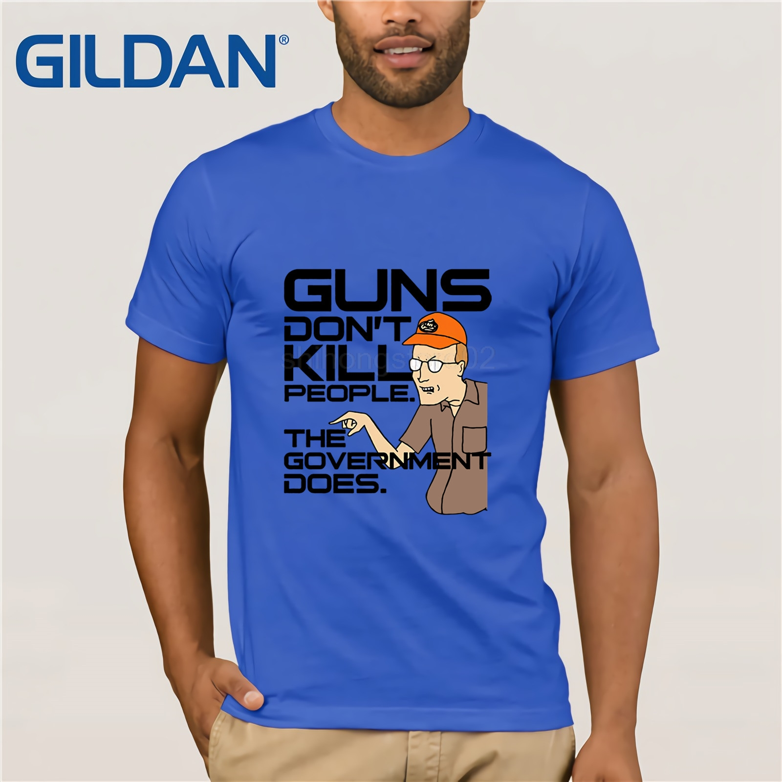 King Of The Hill Dale Guns TV Episodes T Shirt Design tshirt printing tee shirt Funny Tees Cotton Tops T Shirt image