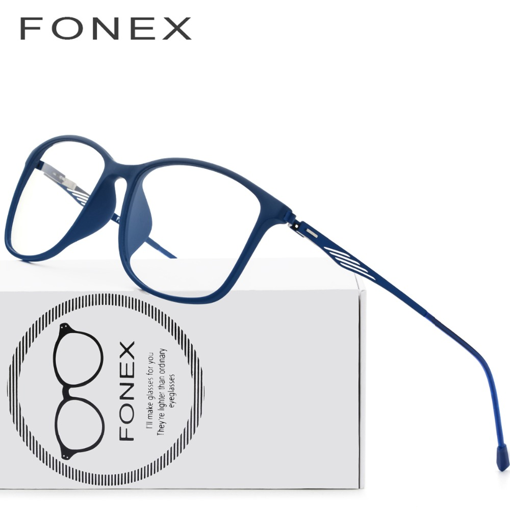 d828d94e75 TR90 Titanium Optical Glasses Frame Men 2018 New Full Square Myopia Eye  Glass Prescription Eyeglasses Korean Screwless Eyewear-in Eyewear Frames  from ...