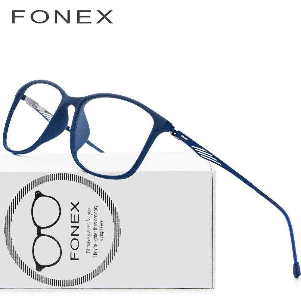 7738c7a596e87 TR90 Titanium Optical Óculos de Armação Homens 2018 Nova Praça Cheia Óculos  de Prescrição Óculos de Miopia Olho de Vidro Coreano Sem Parafusos em  Armações ...