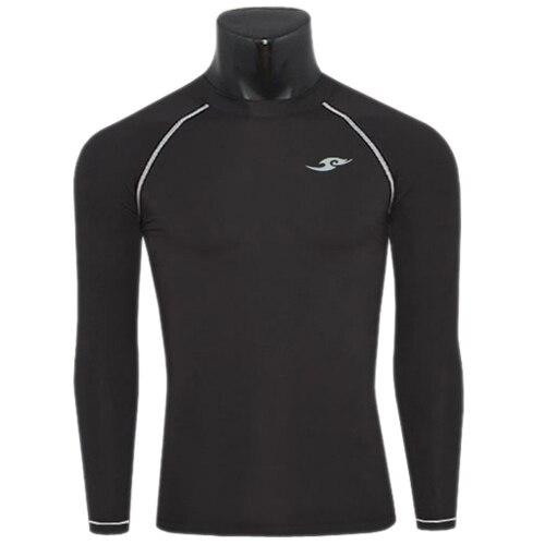 새로운 2015베이스 레이어 T 셔츠 Mens 압축 스타킹 긴 소매 스킨 기어 열상 티셔츠 M-XXL