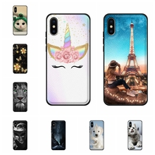 For Apple iPhone XS Max Case Soft TPU Leather A2101 A1921 A2104 Cover Paris Patterned Funda