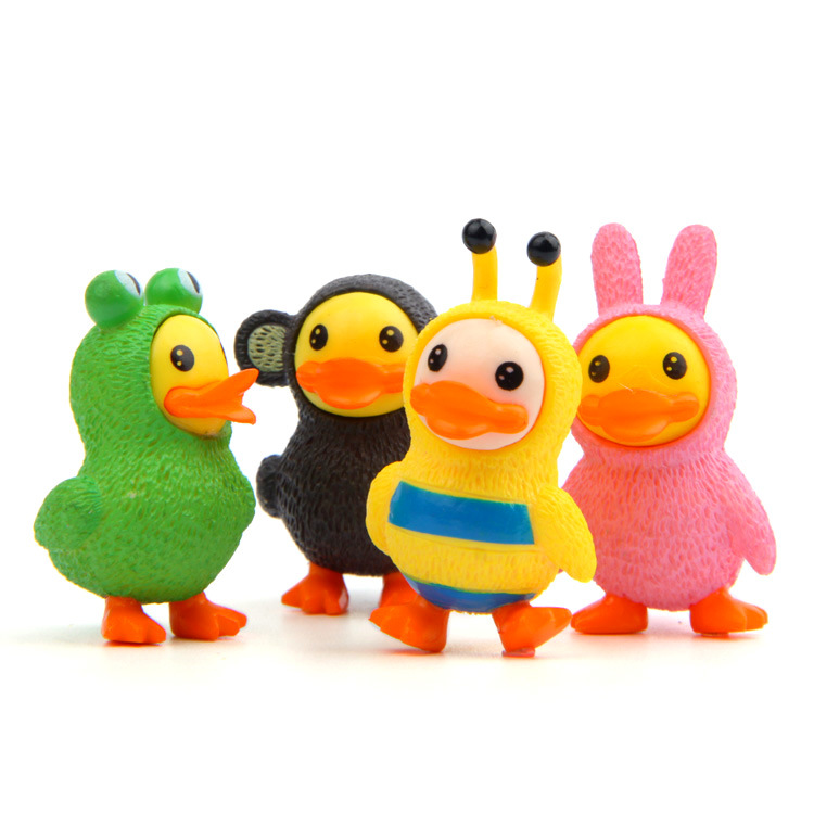 Toys & Hobbies Latest Collection Of 4 Pcs/set Yellow Duck Action Figures Cartoon Toys Set Anime Cute Christmas Party Supply For Children Kid Figures Toys Vinyl Toys Keep You Fit All The Time