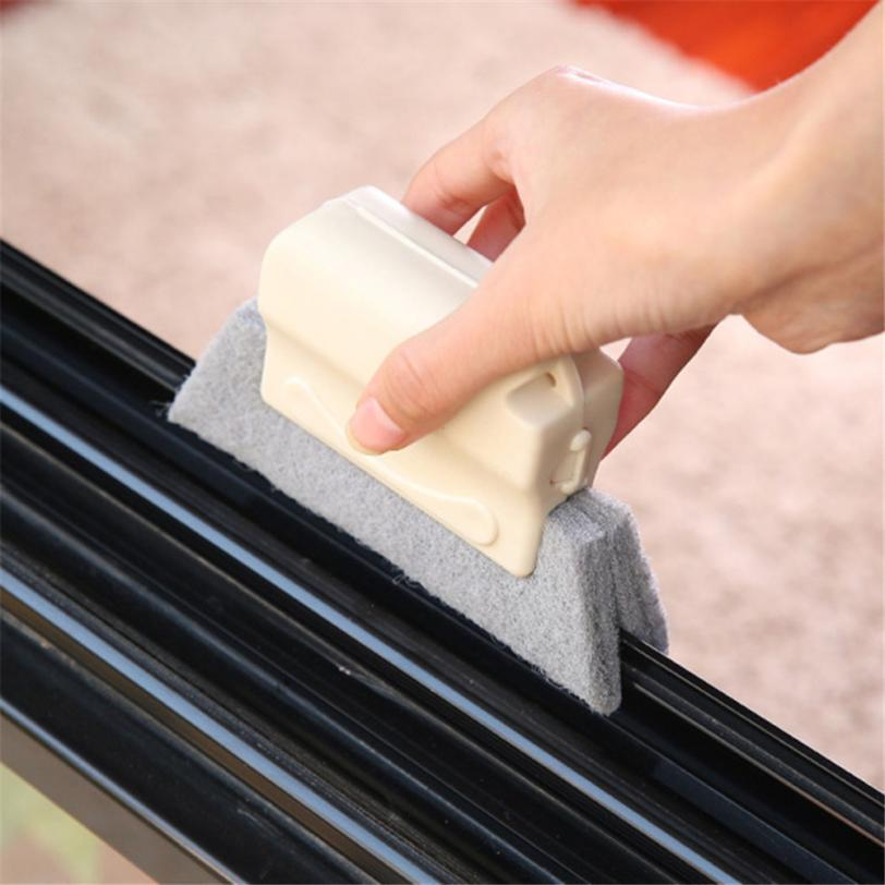 1PC cleaning brush for Window Frame Door Groove Cleaning Brush Kitchen Decontamination Brush 2o0530