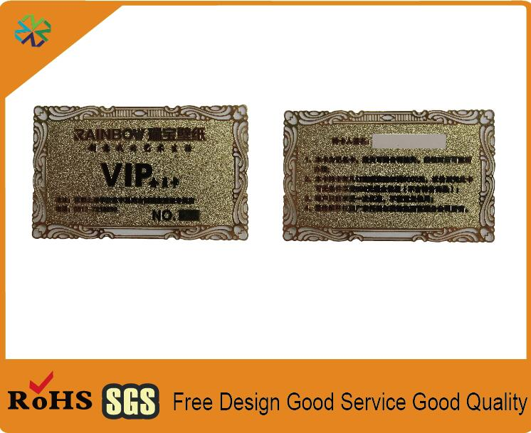 Gold color china manufacturer high quality laser cut gold metal gold color china manufacturer high quality laser cut gold metal business cards metal name card metal visiting card printing in business cards from office colourmoves