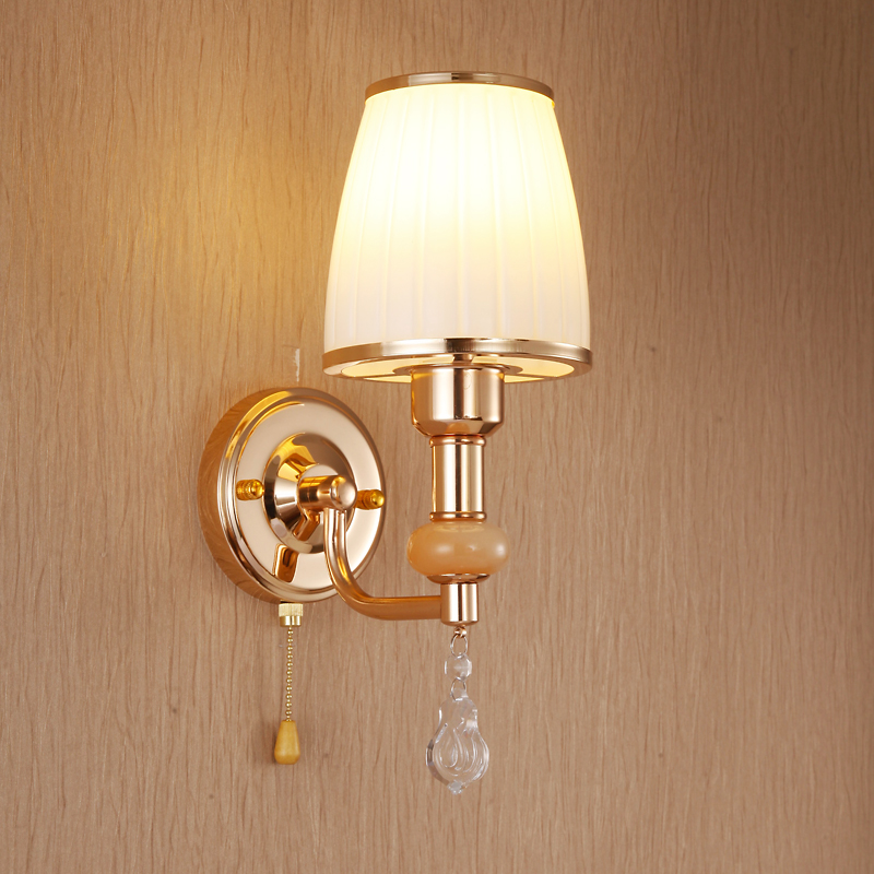 Hotel bedroom bedside lamp wall lights glass warm living room balcony simple aisle stairs creative lamp Wall Lamps FG558 dia 28cm retro creative restaurant bedside wall lights living room bedroom aisle loft wall lamps resin antlers lamp