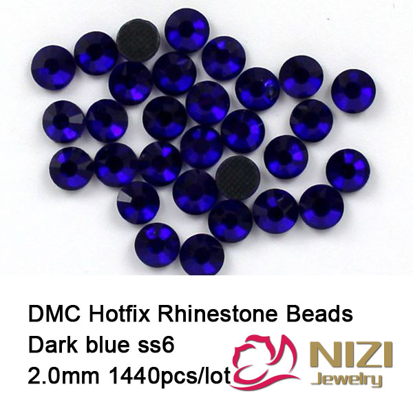 2mm ss6  sapphire color DMC hot fix rhinestones flat back rhinestones 1440 pcs HighQuality Free shipping 1440pcs lot ss16 3 8 4 0mm high quality dmc tanzanite iron on rhinestones hot fix rhinestones