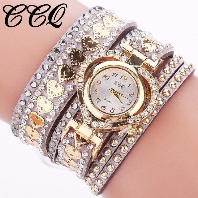 Fashion Women Rhinestone Bracelet Watch Ladies Luxury Quartz Watch Casual CCQ Br