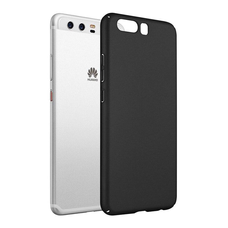 Galleria fotografica Qosea Pour Huawei P10 P10 Plus Cas PC Super Givré Bouclier couverture arrière mat shell Coque Pour Huawei P10 P10 Lite <font><b>smartphone</b></font> couverture
