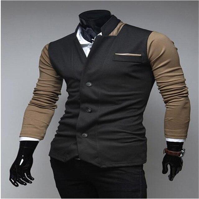 e57f8f734 MEBOSYA 2016 modelos masculinos Traje de otoño para hombre de moda trajes de  ocio y de