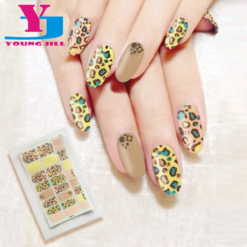 New Arrival Nail Art Stickers Sexy Leopard Print Design Nail
