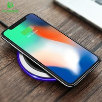 FLOVEME Qi Wireless Charger For IPhone X 8 Plus 5V 2A Standard 9V 1 8A Leather