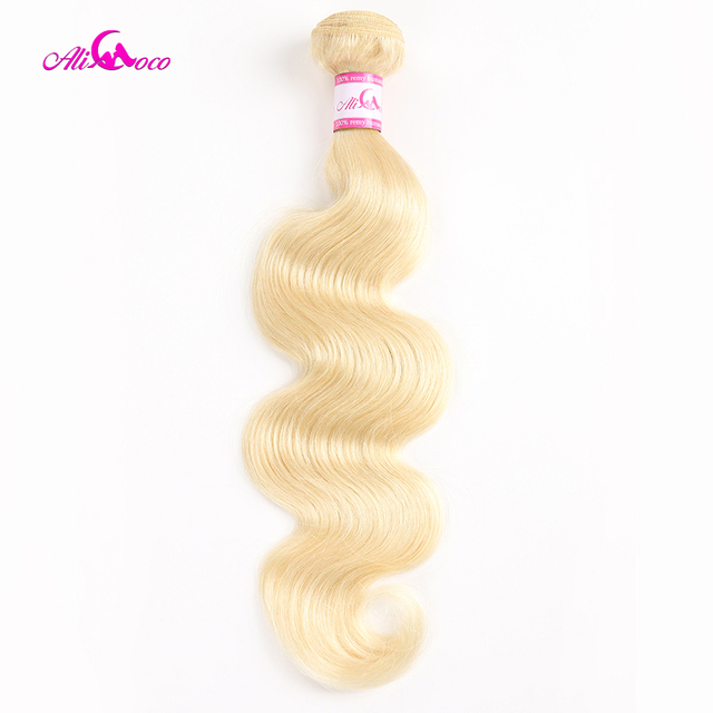 Ali Coco brasileño onda del cuerpo 613 pelo rubio 1/3/4 paquete ofertas 100% paquetes de tejido de cabello humano extensiones de Cabello Remy de 8-30 pulgadas