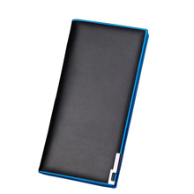 Wallet mens leather clip hit color wallet multi-function classic long business card holder large capacity big men