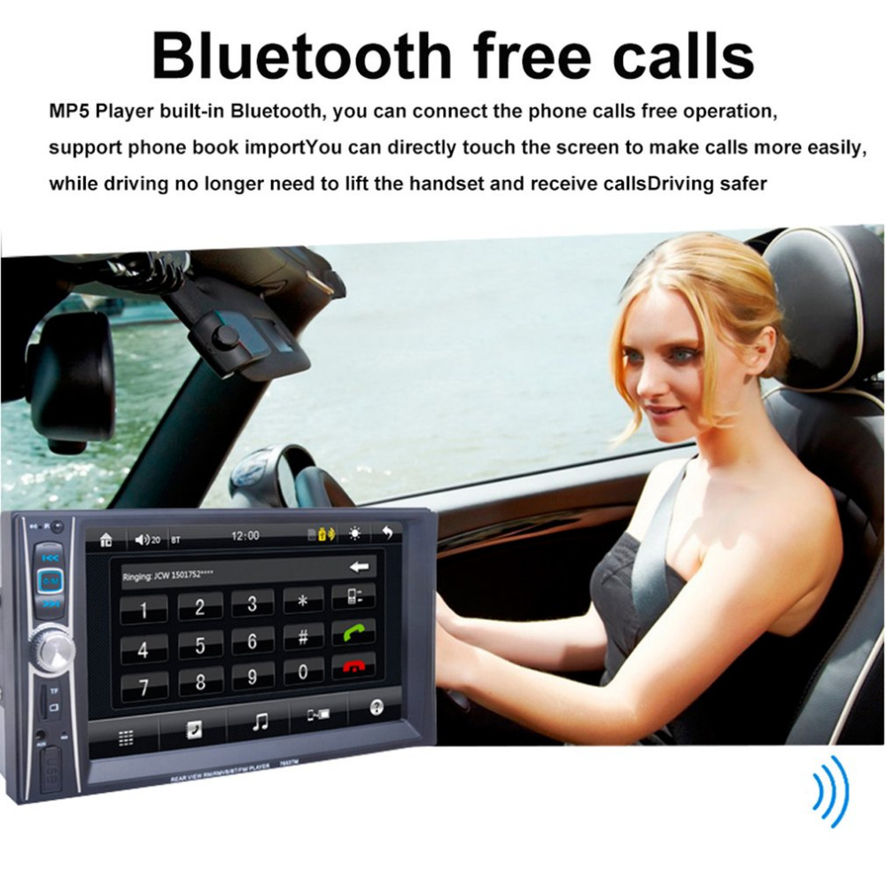 Professional 7 inch  Touch Screen Car Radio Mp5 Player Bluetooth Mp5 1080P Movie Support Rear View Camera  Car Audio  2 Din car radio 7 inch lcd touch screen car radio player bluetooth hands free movie rear view camera 2 din audio stereo mp5