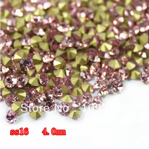 SS16(3.8-4.0mm) Light Rose Color,10gross/lot Pointed Back Chaton Rhinestone for Jewelry Accessory! Free Shipping ss16 3 8 4 0mm aquamarine color 10gross lot pointed back chaton rhinestone for jewelry accessory free shipping