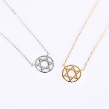 Classic Star Of David Pendant Necklace Solomon Seal Six-pointed Sterling Silver Jewelry Gift For Women