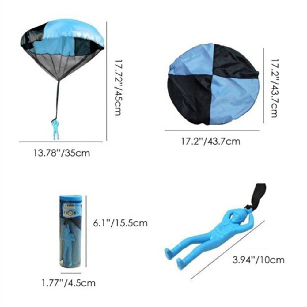 Hand Throwing Mini Play Soldier Parachute Toys For Kids Outdoor Fun Sports Children's Educational Mini Parachuter Toys