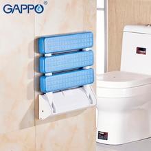 GAPPO New Non slip panel Shower Seat folding bench elderly Wall Mounted toilet folding chair Bath Stool Cadeira silla de bano