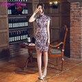 Elegant Chinese Dress Chinesische Cheongsam Kleider Sexy Side Split Short Sleeve Qipao Women Chinese Traditional Dress Q600