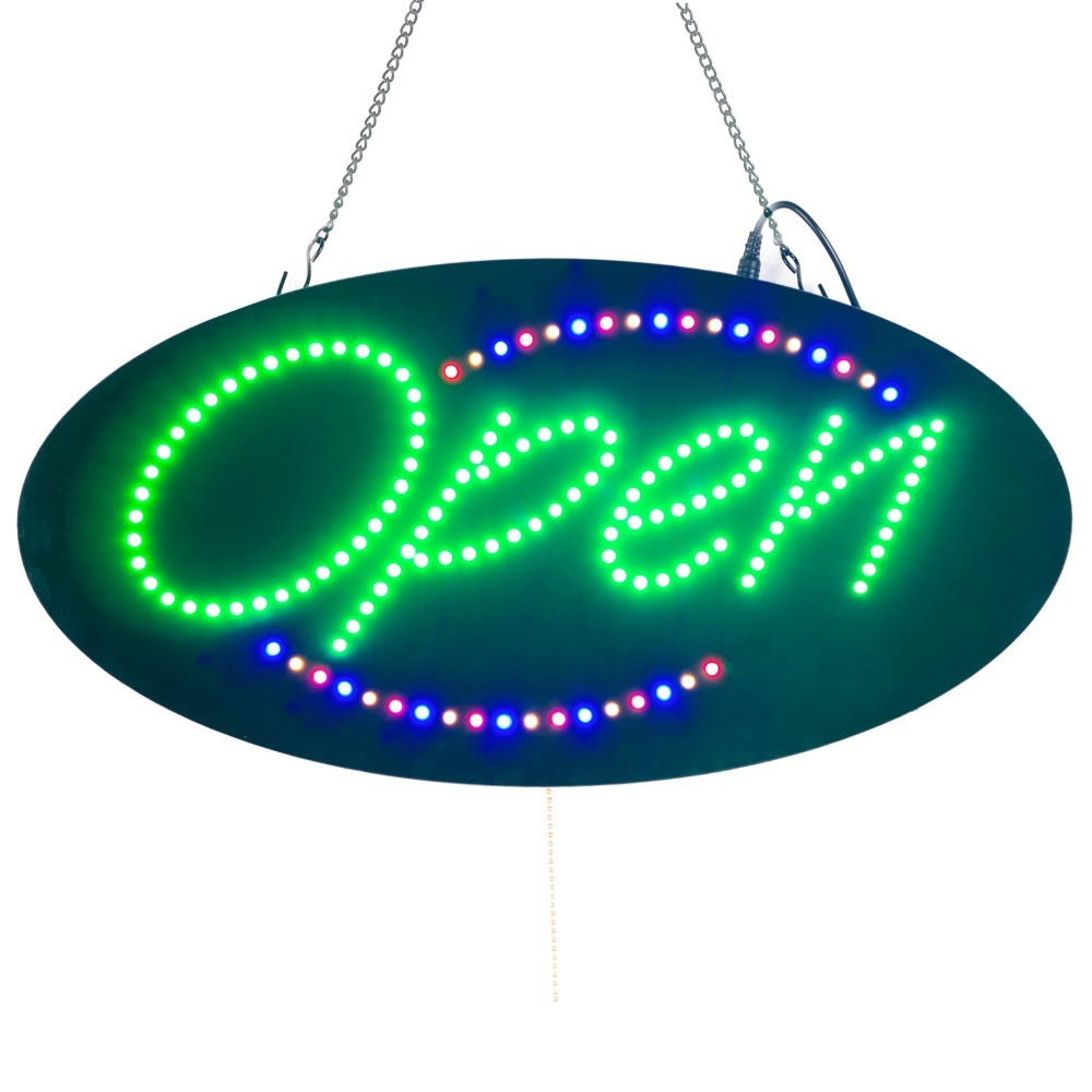 Indoor <font><b>Billboard</b></font> LED Lamp 3 Light Modes Advertising Board Ultra-thin Flashing Light Door Suspension For Business open sign image