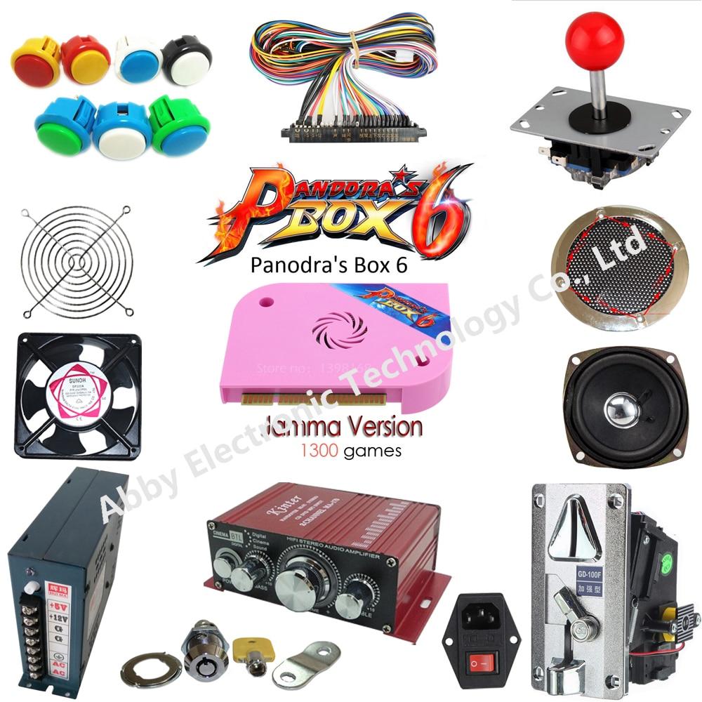 1300 em 1 DIY kit box 6 tabuleiro de jogo máquina de arcade jamma multigame cartão VGA HDMI outp para gabinete arcade partes