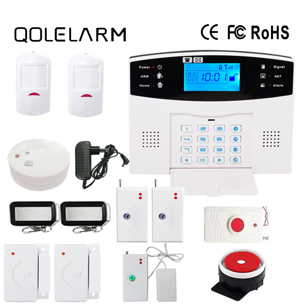 433 MHz LCD display gsm home alarm system wireless outdoor strobe siren alarm systems security home panic button PIR motion yobangsecurity cheap lcd display voice prompt gsm wireless burglar alarm system security home with strobe siren panic button
