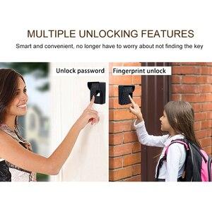 Image 2 - Timbre inalámbrico inteligente para puerta, intercomunicador con huella dactilar, vídeo, Wifi, RFID, contraseña