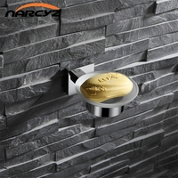 New Wall mount Soap dish 304 stainless steel soap dish Chrome Color Hotel bathroom simple soap dish Bathroom accessories 9177K