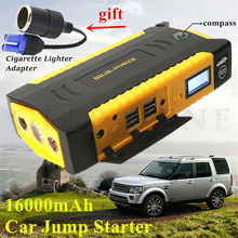 High Capacity 12V Petrol Diesel Car Jump Starter Portable 16000mAh Starting Device Power Bank 600A Car Battery Charger Booster