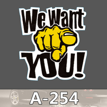 A-254 Wrods Wasserdicht Mode Kühle DIY Aufkleber Für Laptop Gepäck Skateboard Kühlschrank Auto Graffiti Cartoon Aufkleber