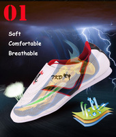 таэквондо обувь белый магия стикеры дышащая спортивная обувь для ушу кунг фу каратэ боевые искусства борьба тайчи для мужчин тапки