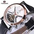 2017 forsining tourbillon automático mecânica mens relógios top marca de luxo de couro de pulso assista erkek kol saati montre homme