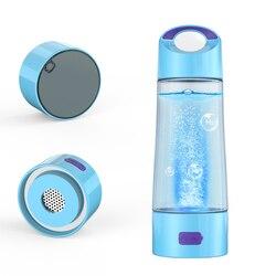 SPE/PEM rico taza de hidrógeno generador de agua energía rico en hidrógeno antioxidante ORP H2 botella de ionizador de agua con agujero de drenaje
