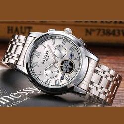 KALOXI New relojes hombre CLOCK MAN Waterproof Quartz Movement Casual watch men Stainless Steel Watchband watches hodinky