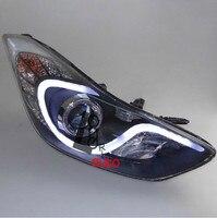 Lens Headlights With Bi Xenon Projector For Hyundai Elantra 2012 2013