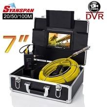 "SYANSPAN 20/50/100 M Rohr Inspektion Video Kamera, 8 GB TF Karte DVR IP68 Ablauf Kanalisation Pipeline Industrie Endoskop mit 7 ""Monitor"