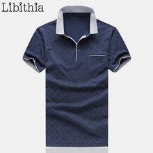 Men Polo Shirt Men Breathable Cotton Quality Casual Clothing Big Size M-5XL Short Sleeve Jerseys Man Summer Blue White Grey G16