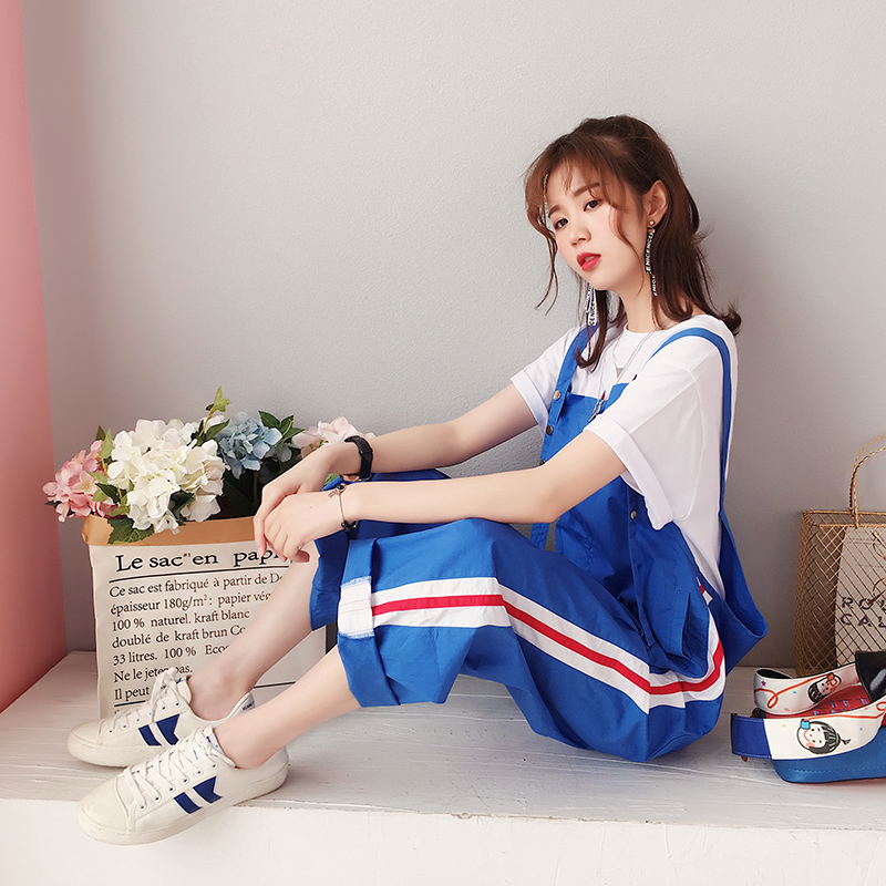 Sweet Girls Womens Summer Thin Ankle-Length   Pants   Overalls Students Casual   Wide     Leg     Pants   Trousers J34