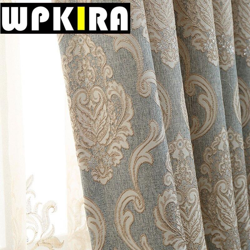 europa jacquard cortinas opacas cortinas del dormitorio sala de estar moderna de lujo cortina de la