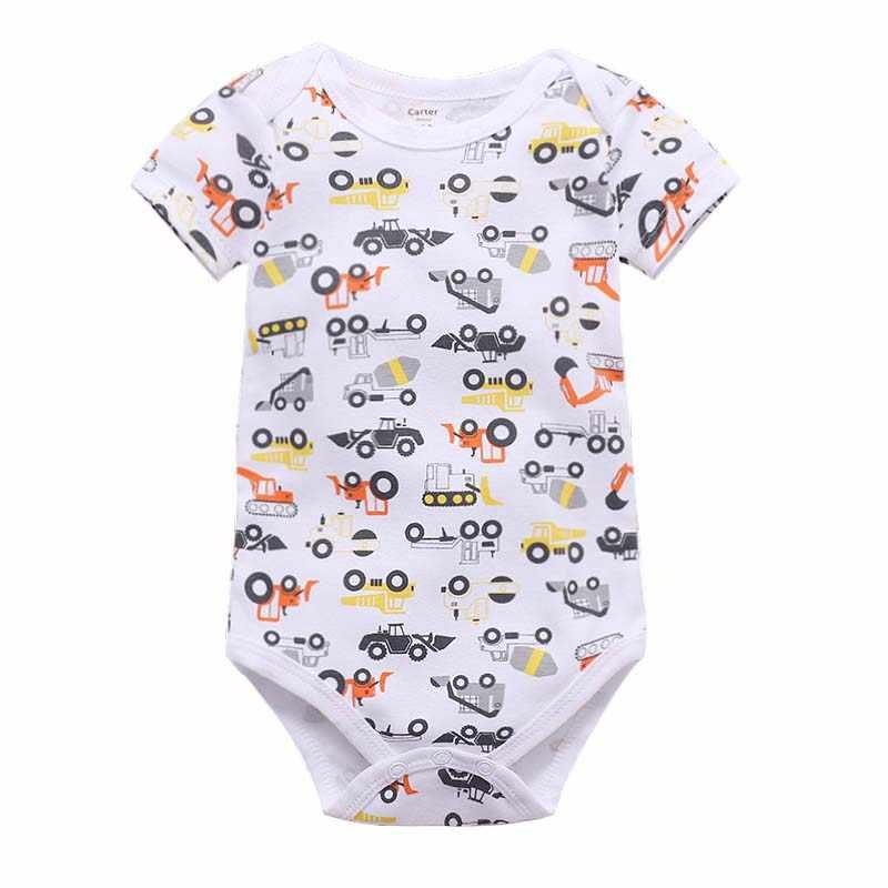 Verano recién nacido Bebé Ropa niño niña niños algodón mono divertido lindo trajes infantil manga corta Daddy gift