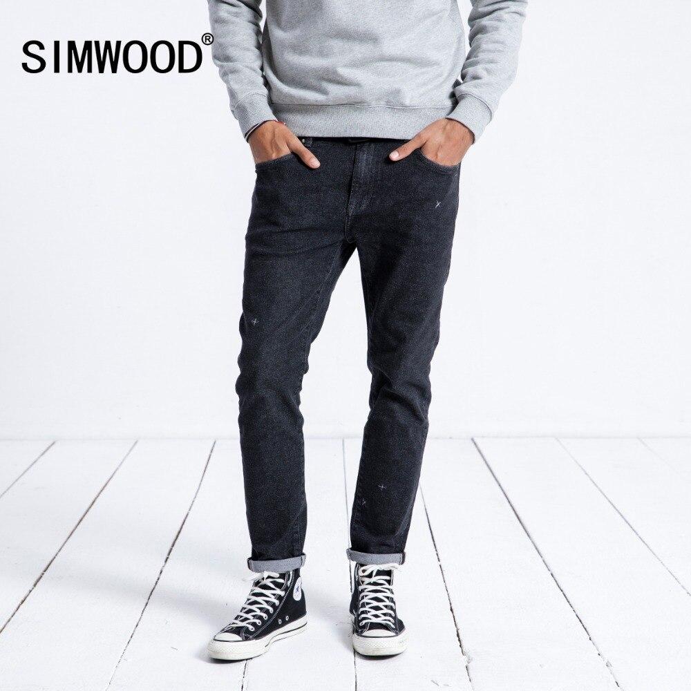 SIMWOOD 2019 весна джинсы для женщин для мужчин Slim Fit уличная мода высокое качество вышивка бренд джинсовые мотобрюки костюмы 180412