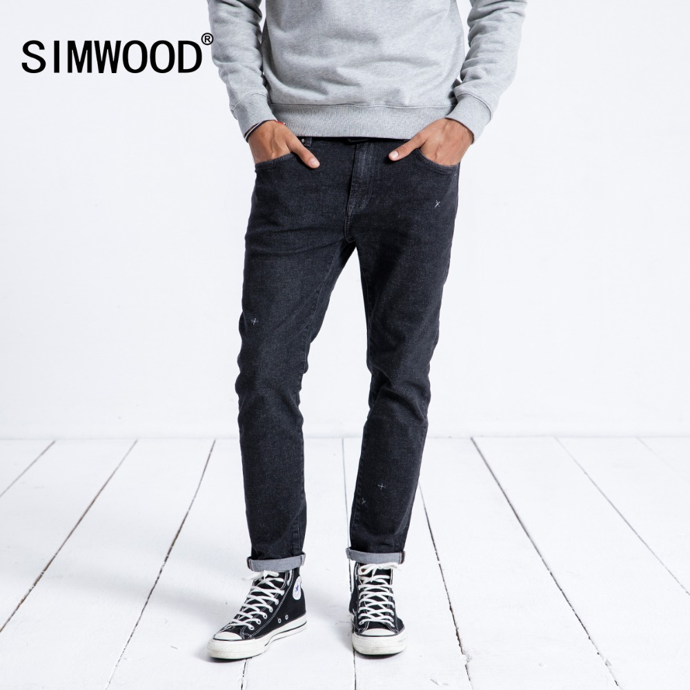 SIMWOOD 2019 Spring   Jeans   Men Slim Fit Fashion Streetwear High Quality Embroidery Brand Denim Trousers Clothing 180412