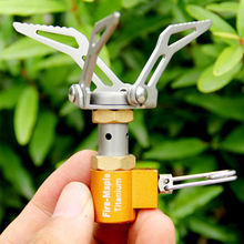 Hot Sale Fire Maple Gas Stove Mini Titanium Stove Portable Camping Cooking Tool Hornillo 45g FMS-300T w/ Draw String Bag