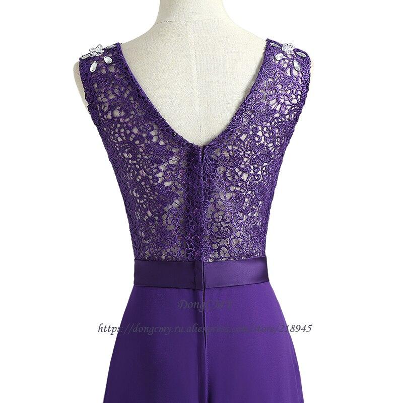 ᐊDongCMY WT01268 2018 nueva moda diseño largo púrpura partido ...