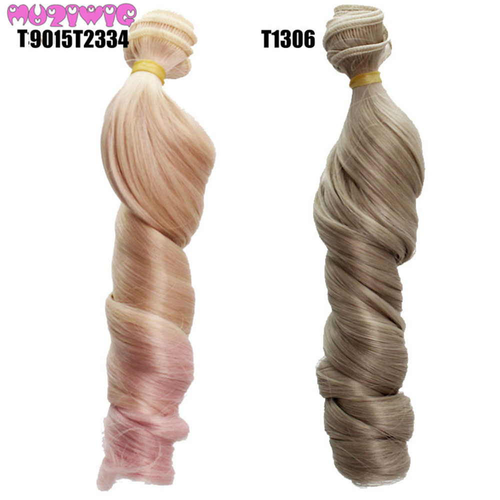DIY Heat Resistant Wire Roman Curly Hair Extensions for BJD Blyth American All Dolls in Dolls Accessories from Toys Hobbies