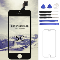 1pcs No Dead Pixel Lcd For IPhone 5C Lcd Display With Touch Screen Digitizer Assembly Replacement