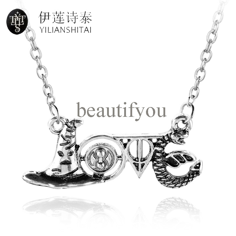Death Artifact Horcrux Magic Hat Time Turner Snake Diy Min Pendent Alloy Necklaces Gift For Fans Movie Jewelry For Man And Woman