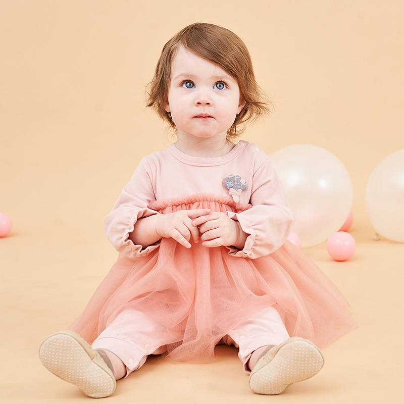 2019 Spring&Autumn New Uniform Dress mesh Romper Baby Girl Clothes Baby Birthday Dress Baby Onesie Baby Rompers2019 Spring&Autumn New Uniform Dress mesh Romper Baby Girl Clothes Baby Birthday Dress Baby Onesie Baby Rompers