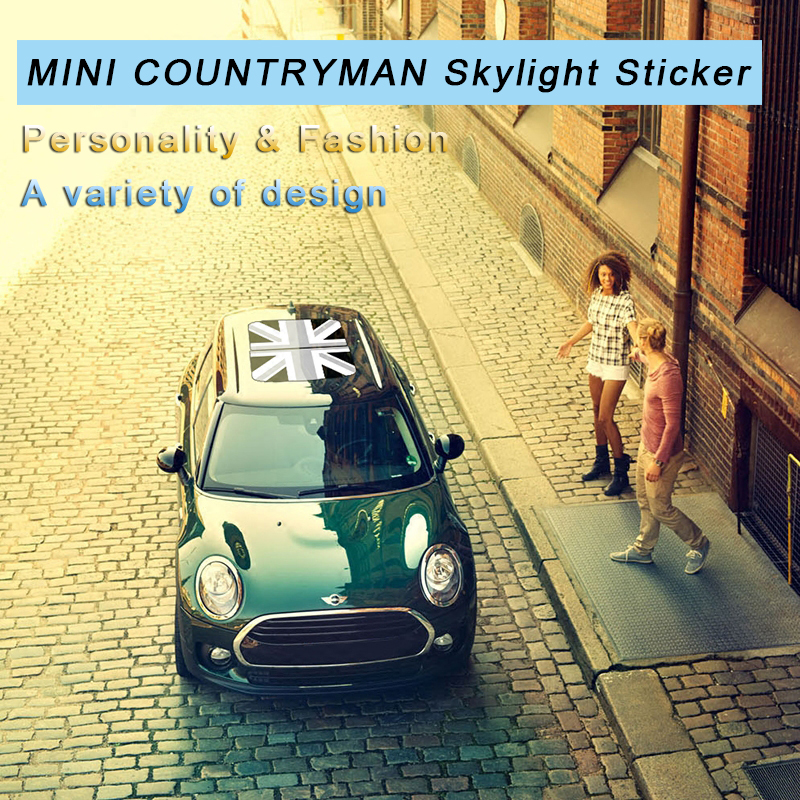 Hot sale 1pcs car roof sticker skylight union jack 3D car styling accessories emblem badge stickers for MINI COOPER countryman