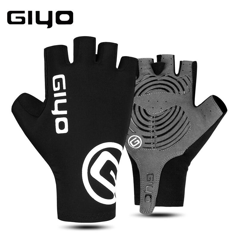 Giyo luvas de ciclismo metade do dedo gel esportes corrida bicicleta luvas de verão dos homens das mulheres estrada mtb luva guantes